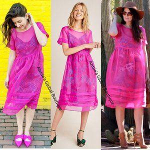 HTF NWT ANTHROPOLOGIE Gabrielle Silk Organza Dress